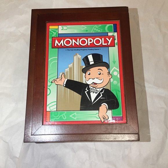 Monopoly game wooden box